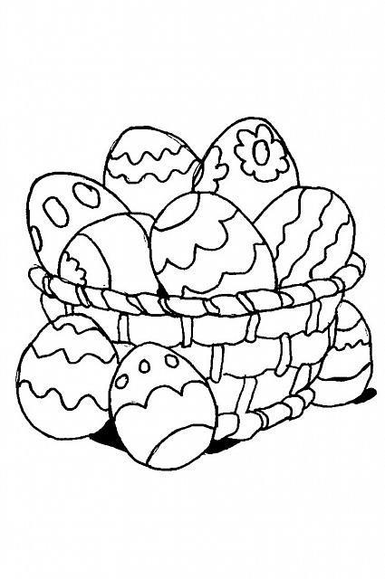 Cesta Con Uova Di Pasqua Disegno Da Colorare Per Bimbi Disegni Da