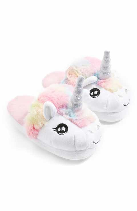 heated unicorn slippers
