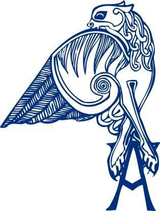 angel's tattoo, the image of a gryphon from the book of kells.