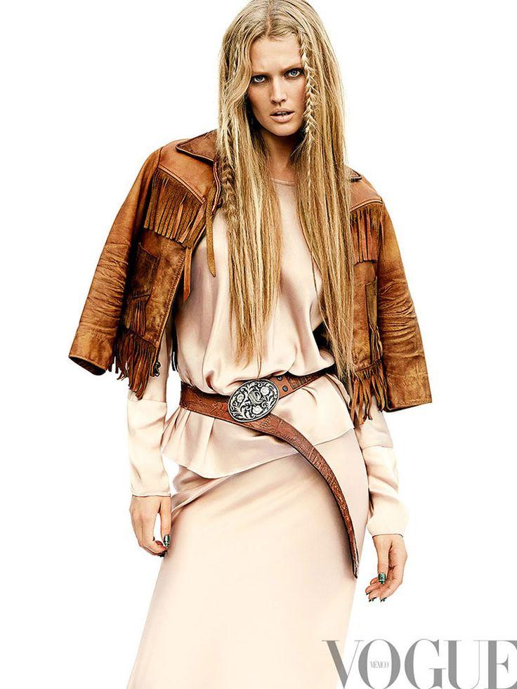 Historia Portada Vogue Mexico septiembre 2014 Toni Garrn