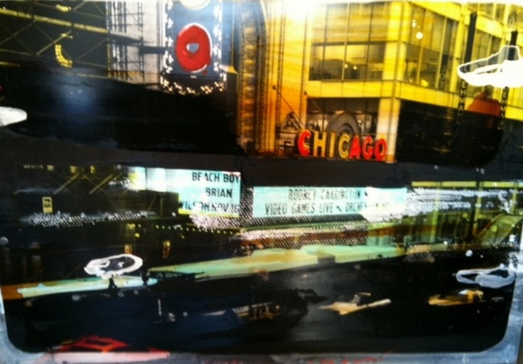 """""""Chicago, 2011"""" by Tony Soulié -  Mixed technique on wood 125 x 175 cm #Chicago #Soulié #photograph #painting #art"""