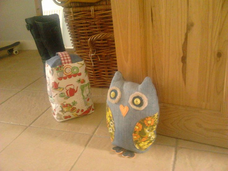 This owl has been sold!! Fly London boots behind the other doorstop (i adore these boots!!)