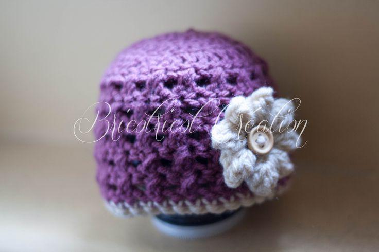 CLIQUEZ pour voir ce joli bonnet pour nouveau-né, idéal pour les séances photos #bonnet #crochet #nouveau-né #photo  $20