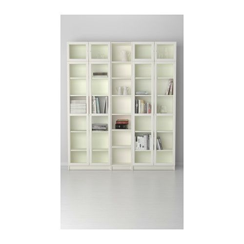 "BILLY / OXBERG Bookcase - white, 78 3/4x93 1/4x11 "" - IKEA - $544.97"