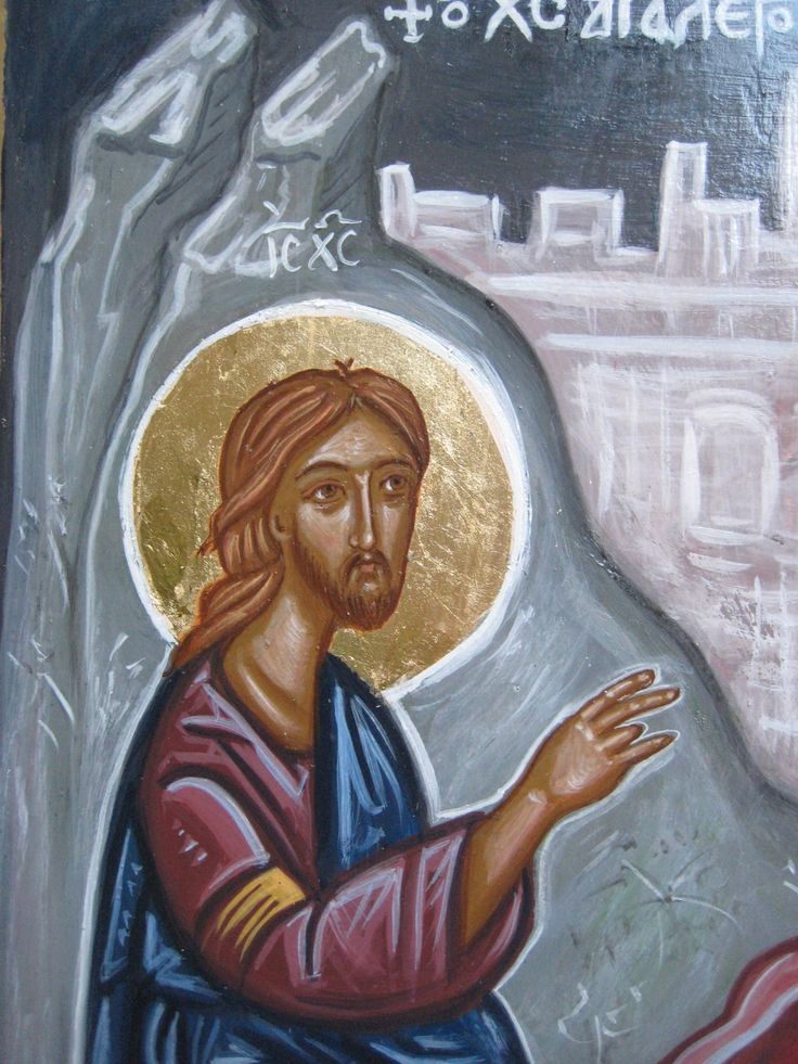 Contemporary icon of Christ by angelicon