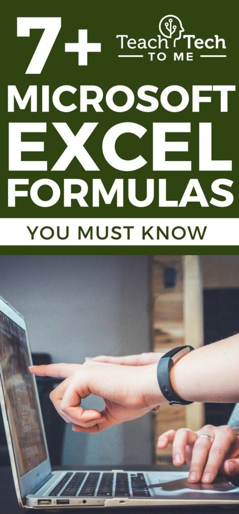 7+ Microsoft Excel Formulas You Must Know This cheat sheet can - spreadsheet formulas