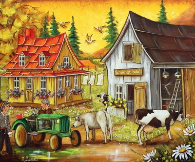 Christine Genest ~ Cows On The Loose