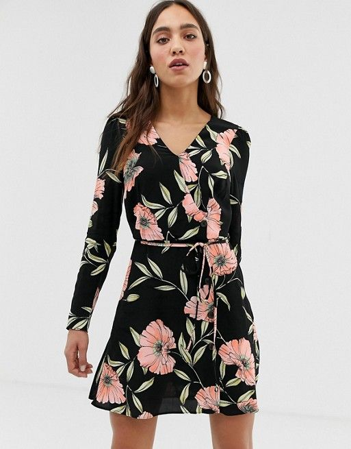 92cf0ccd29e3 River Island tea dress in floral print in 2019 | Dresses | Dresses ...