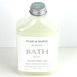 Green Tea Bath Gel | Gift Idea | Bathroom decor | From Plain and Simple | Paraben and sulphate free |