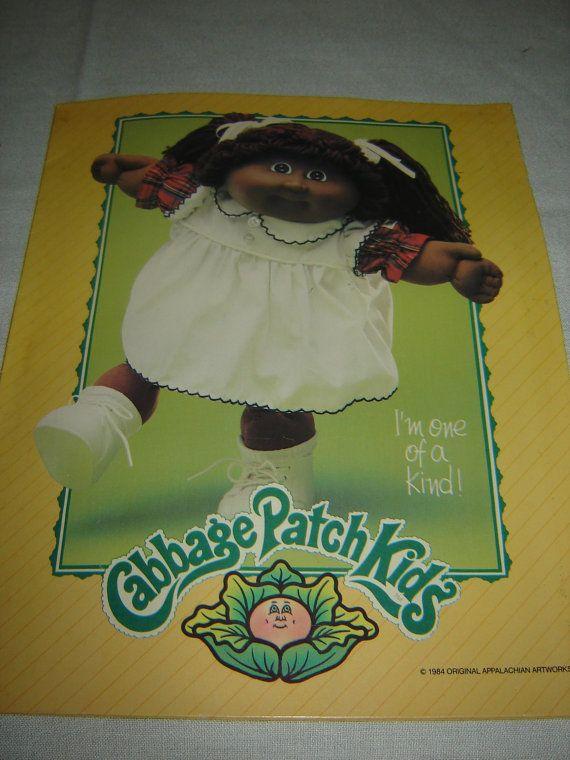 1984 Cabbage Patch Kids Portfolio School Folder by TheHIVEandDIME