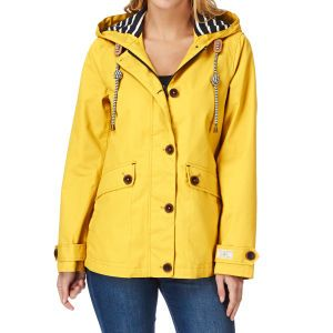 Joules Jackets - Joules Coast Waterproof Hooded Jacket - Gold