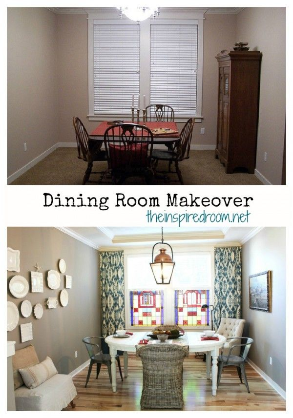 dining room before and after makeover