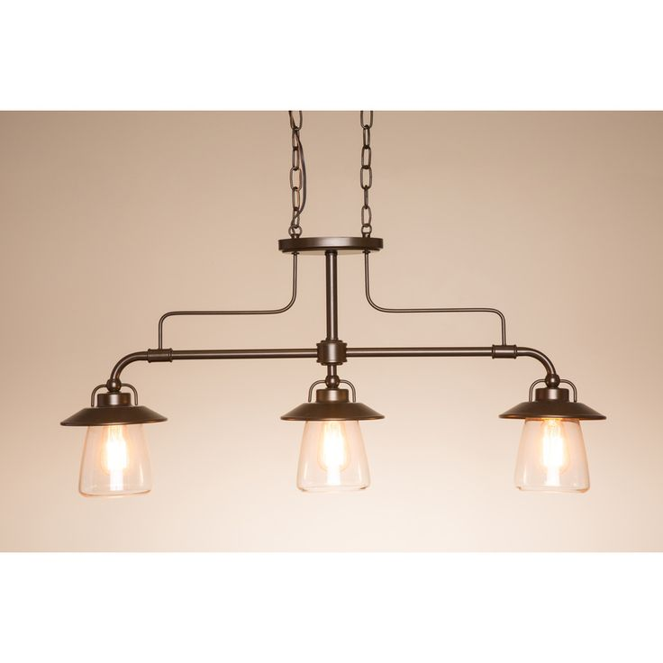 Shop allen roth bristow w mission bronze standard kitchen island light with clear shade at lowes canada find our selection of kitchen island lighting at