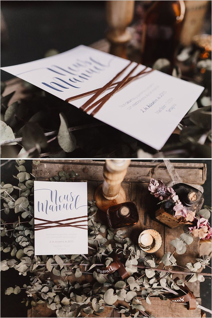 Rustic wedding invite #weddinginvitation @weddingchicks