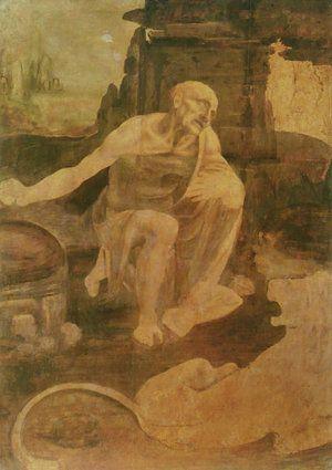 Saint Jerome in the Wilderness - Leonardo Da Vinci (1480)