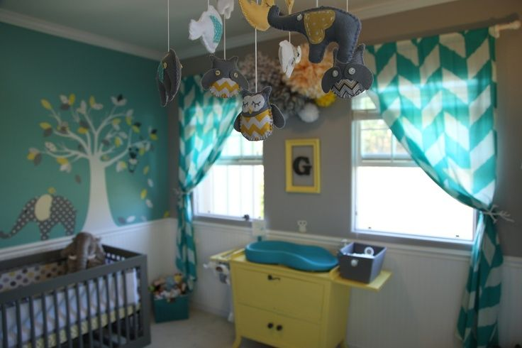 32 Best Images About Nursery On Pinterest Stencils Teal