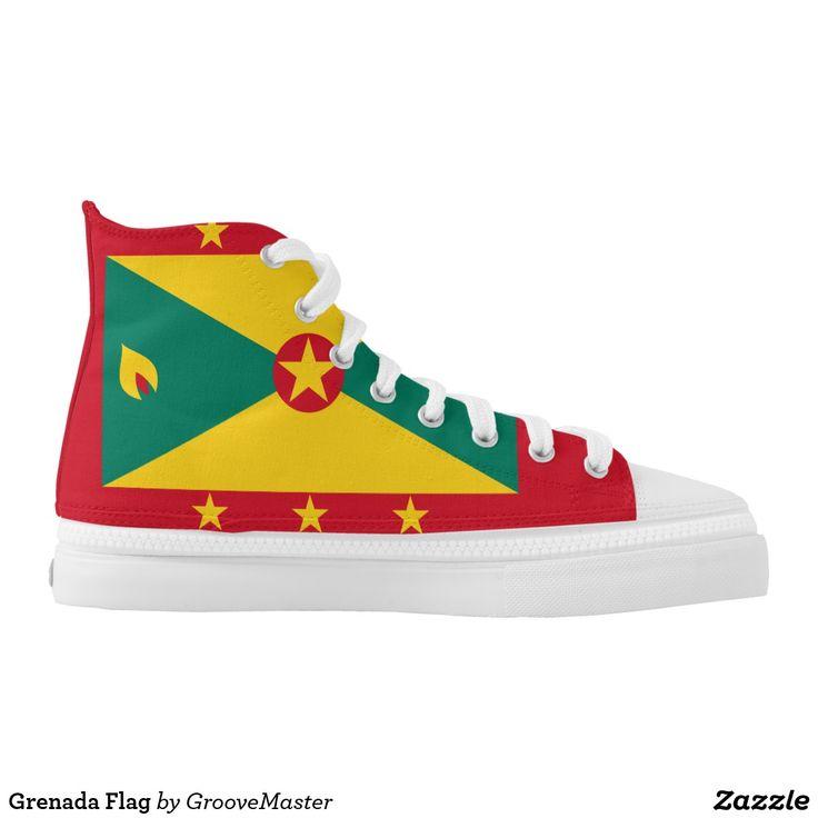 Grenada Flag High-Top Sneakers