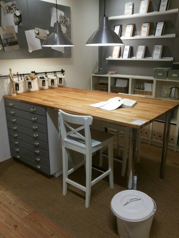 ikeathink i am loving the grays seen on pinterest - Craft Desk Ideas