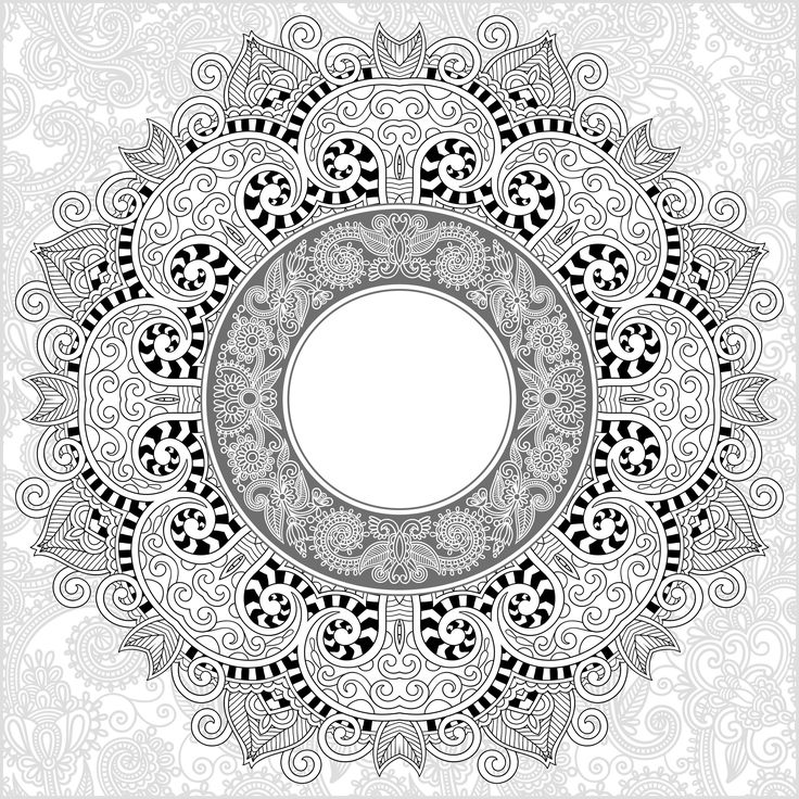 Free mandala coloring page coloring adult mandala by karakotsya 3 coloring pages pinterest - Mandala complexe ...