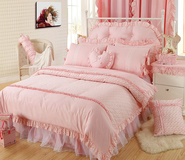Girls Tulle Ruffle Bowtie Peachpuff Bedding Sets   girls ...