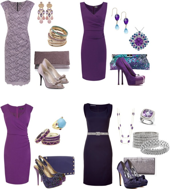 Different Shades of Purple, created by winecountryoccasions on Polyvore