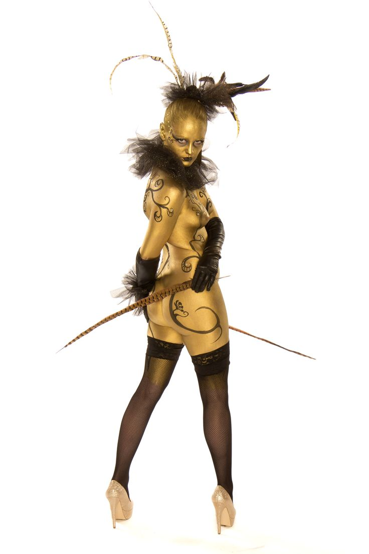 Gold Cirque Abstract Body Paint