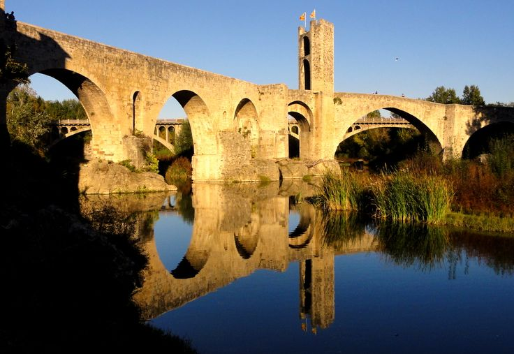12-century Romanesque stone bridge of Besalu.