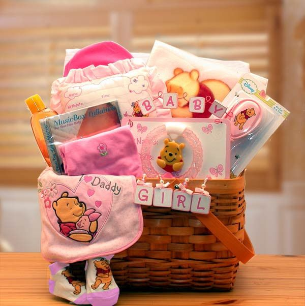 Give your congratulations to any mom having a baby girl with the Winnie The Pooh Baby Girl Gift Basket. Keep the baby warm and comfortable with the blanket, beanie, booties, bib, onesies and more. Kee