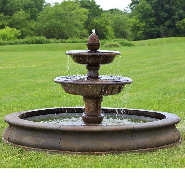 7 best  large estate garden fountains  images on pinterest