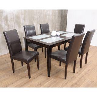 Warehouse Of TIffanyu0027s 7 Piece Brown Bock Dining Set | Overstock™ Shopping    Big · EsszimmergarniturenEsstisch