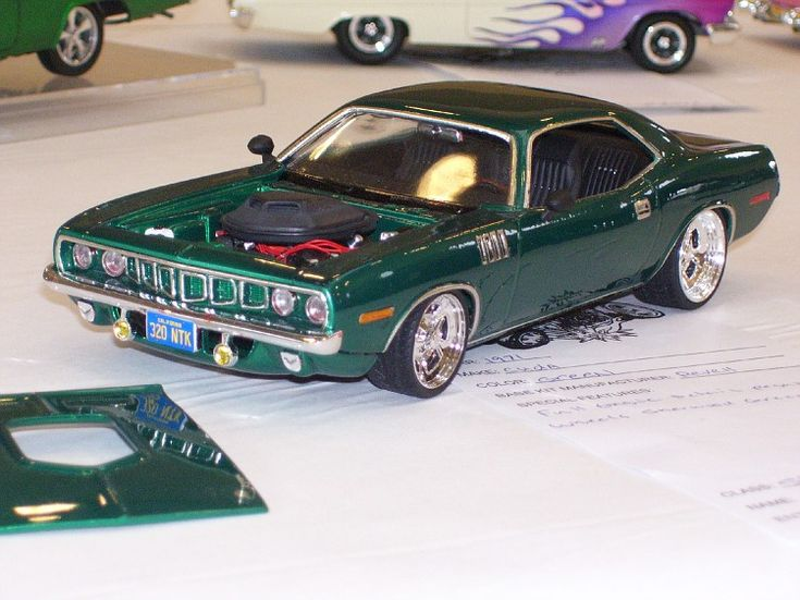 71 cuda scale model carsplastic
