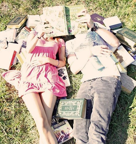 "Rose& Scorpius ~ Fred II: ""Oh, look. They're reading together."" Roxanne: ""That really doesn't surprise me."" (Taken by Roxanne)"