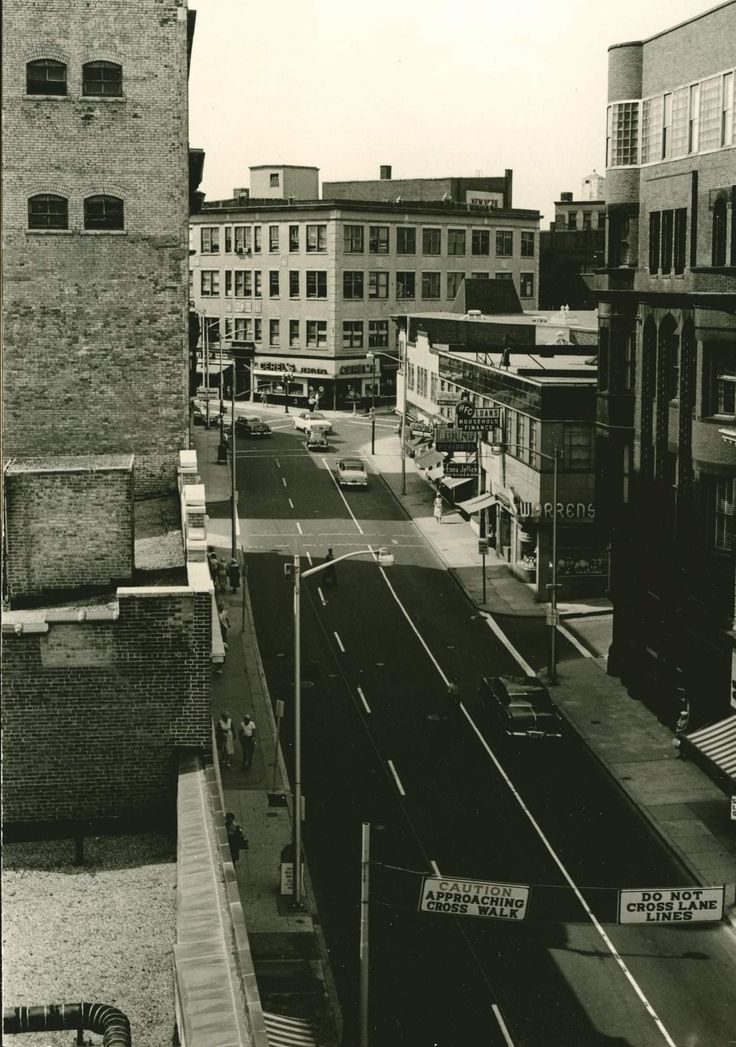 Looking west on Main St. Pawtucket c1960 Rhode island