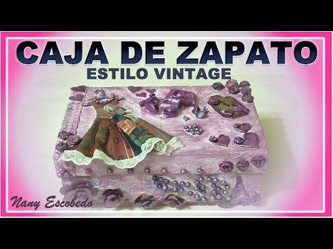 CAJA DE ZAPATO ESTILO VINTAGE - YouTube