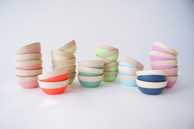 Wooden Mini Bowl by Wind and Willow Home. I love anything that includes a pop of color. I want one of each! $8