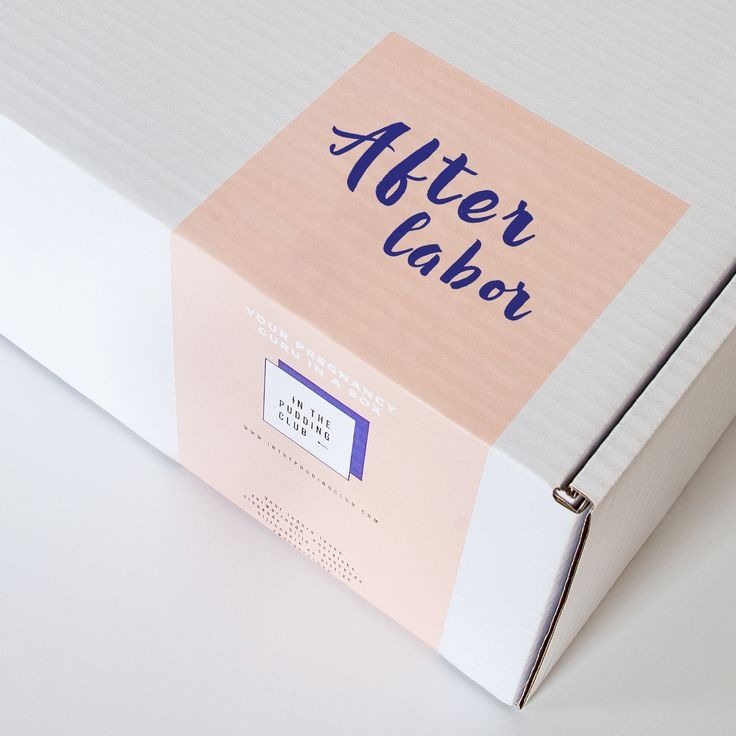 After Labor kraambox. In The Pudding Club: Pregnancy & After Labor love in a box