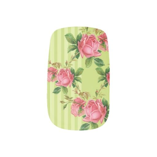 Antique Roses Minx Nail Coverings Nail Stickers