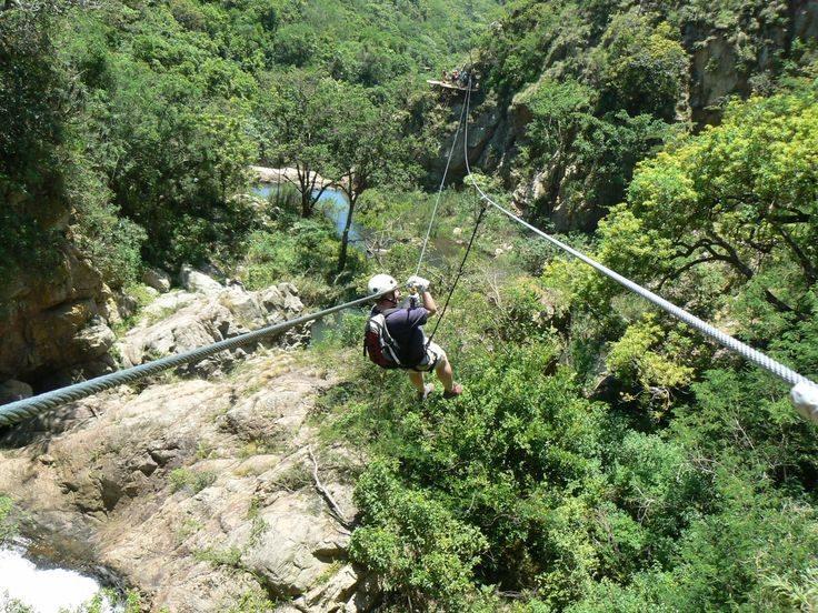 The wildest zipline tours on earth. TSITSIKAMMA ZIPLINE, SOUTH AFRICA Travelers repeatedly cross South Africa's scenic Kruis River gorge on the Tsitsikamma Zipline, which runs through a nature reserve, features eight ziplines, and passes close to several waterfalls. And you'll actually have time to appreciate the sights, since you can adjust your speed on these well-engineered lines. Go fast, but also remember to go slow. The views are worth lingering over.