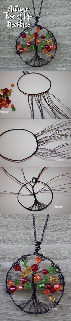 Wire Wrapped Autumn Tree of Life Necklace!