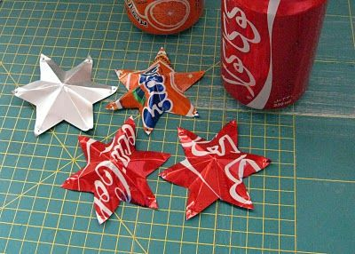 sol y sombra | Tin Can Stars Tutorial - neat idea (she made a full hanging pieces) and can be used to make almost any design in the cans