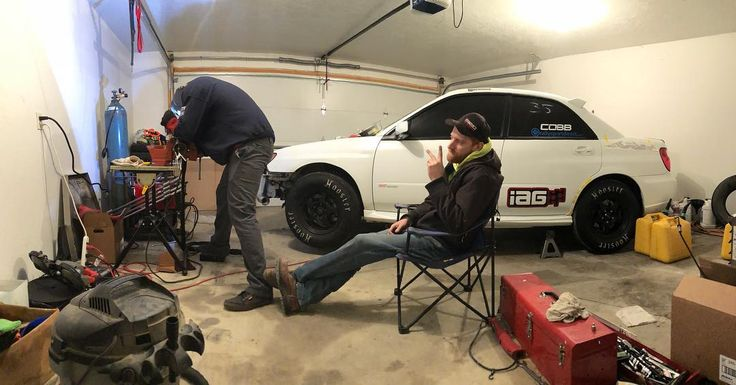 Late night in the hangar. Pics to come stay tuned #subaru #sti #dragcar #v8bait #tx2k18 #texasprep #welding #downpipe