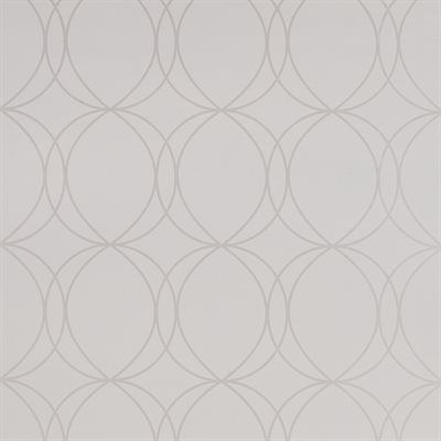 Pretty for bathroom feature wall....Graham & Brown 32-375 Pearl Savoy Wallpaper  Pearl Savoy wallpaperSavoy is a lovely white wallpaper featuring a circle design. The pearl shimmer in this