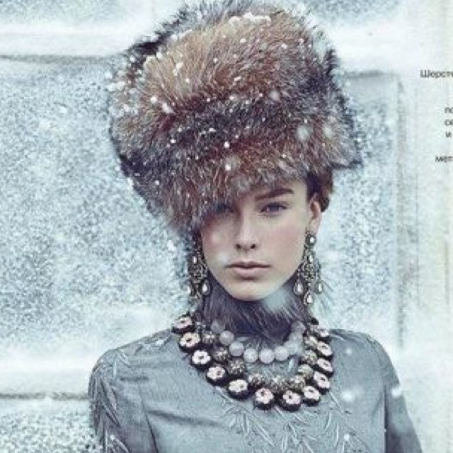 Russian girls. Russian beauty. Fur. Winter fashion, Russia, Moscow background.