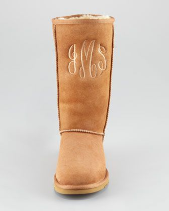 UGG Australia Monogrammed Classic Tall Boot, Chestnut - Neiman Marcus. Omg I have to have these!