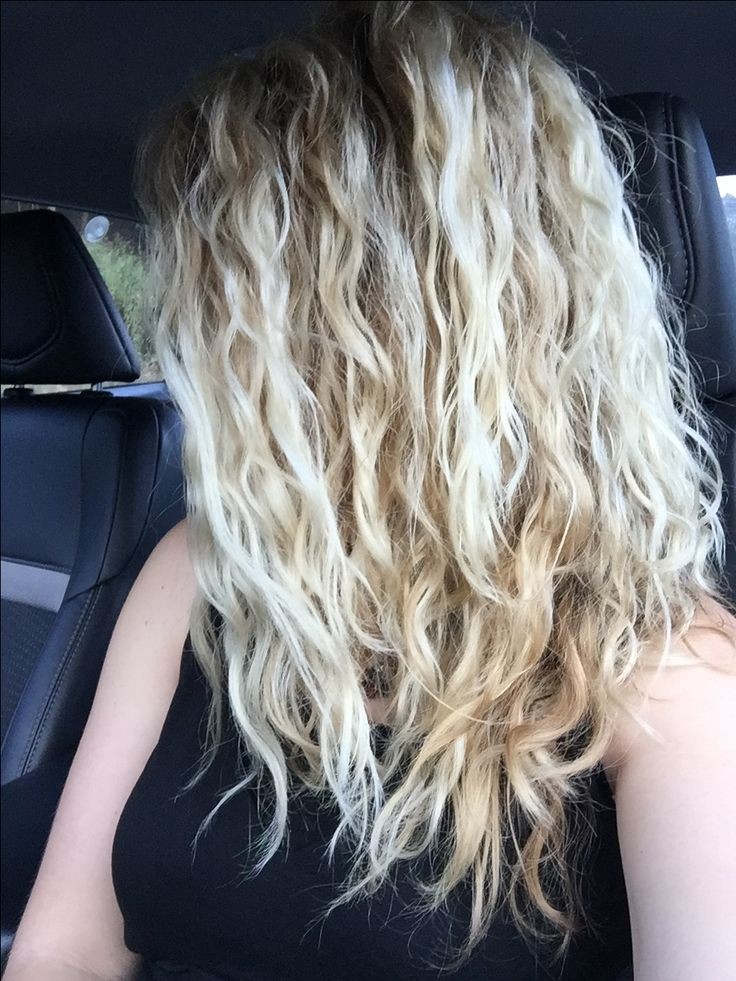 Messy natural curly hair