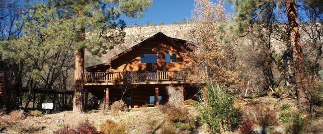 Logwood Bed and Breakfast in Durango #logcabin #Colorado