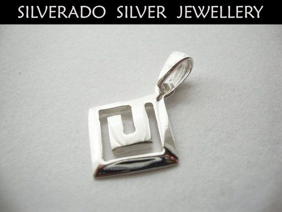 Ancient Greek Eternity Key Meander Pendant by SilveradoJewellery, €17.00