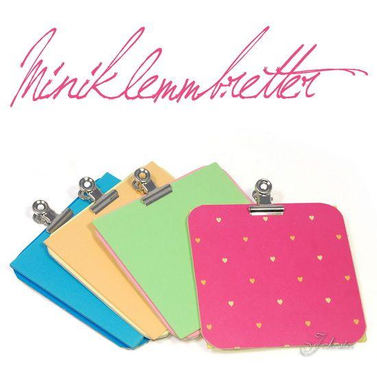 Miniklemmbretter aus Bierdeckeln / Miniature clipboards made from beer mats / Upcycling