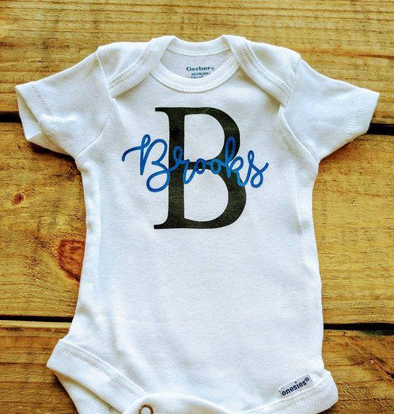 Baby Girl Onesie Name ONESIE\u00ae Personalized Onesie Custom Onesie Baby Shower Gift Baby Name Onesie Baby Boy Onesie Unisex Baby Gift