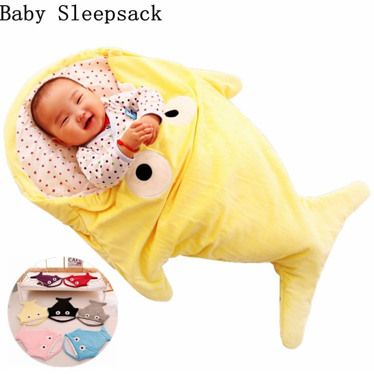 Cool Baby Sleeping Bags Envelope For Newborns Shark Sleepsack Children Winter Swaddle Bedding Blanket Baby Sleep Organic Bed Stroller - $30.12 - Buy it Now!